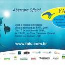 Convite para abertura do VII FATU – Festival Brasileiro de Filmes de Aventura, Turismo e Sustentabilidade.