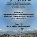 Convite para evento de lançamento IX FATU e ENBLOG 2.0 em Paraty, RJ.