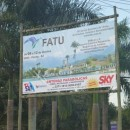 Banner na entrada de Paraty